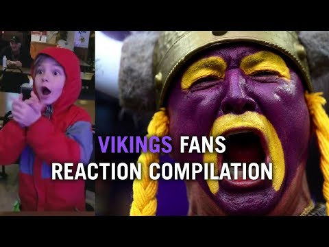 Vikings vs. Saints Best and Funniest Fan Reactions Compilation Touchdown Play