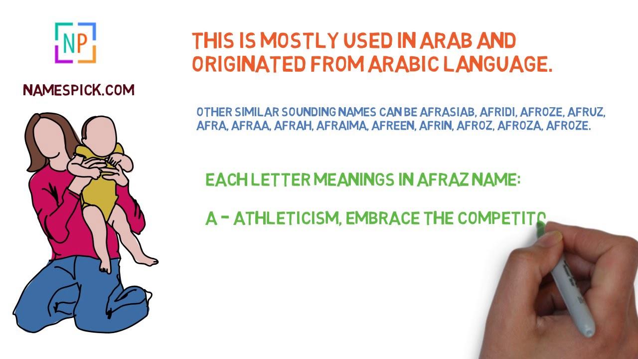 Afraz Muslim Names