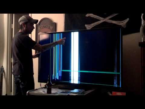 how to fix an lcd tv crack