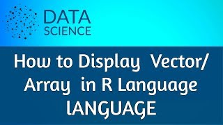 How to display Vector in R