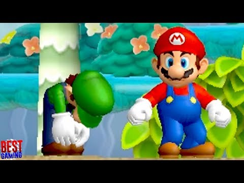 Newer Super Mario Bros. Wii Walkthrough - World 1 100% Guide (Every Star Coin and Secret Exit)