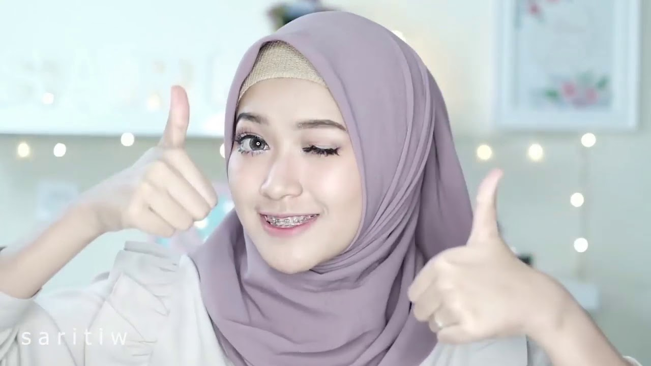 Simple Hijab Tutorial Pashmina 7 Style 1 Scarf Saritiw Youtube