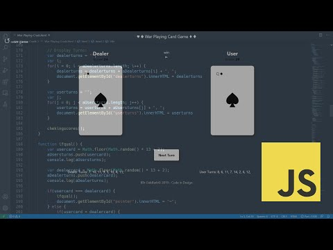 Fast Coding - War Playing Card Game, HTML, CSS And Javascript