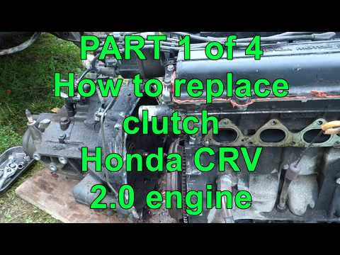 PART 1 of 3 How to replace clutch Honda CRV. Years 1999 to 2017
