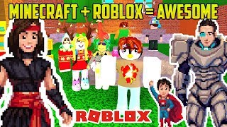 MINECRAFT + ROBLOX = AWESOME