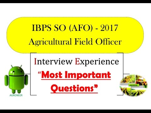 Most Important Questions for Agricultural Field Officer Interview