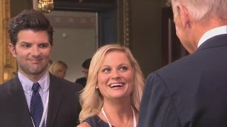 'Parks and Rec' Boss Explains Recurring Joe Biden Joke