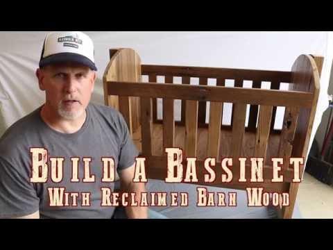 Reclaimed Barnwood Bassinet