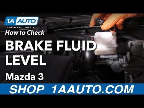 How to Check Brake Fluid 13-19 Mazda 3