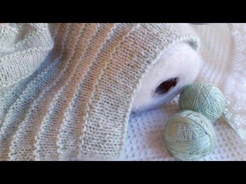 Женский джемпер спицами с круглой кокеткой