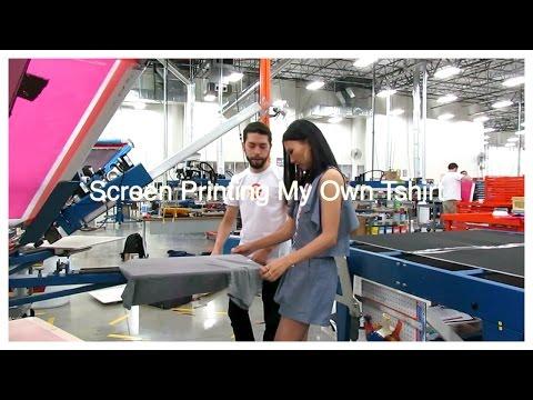 Screen Printing My Own Tshirt With CustomInk | SohnBeardenTV
