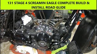 HARLEY DAVIDSON 131 STAGE 4 SCREAMIN EAGLE COMPLETE BUILD & INSTALL ROAD GLIDE MILWAUKEE 8