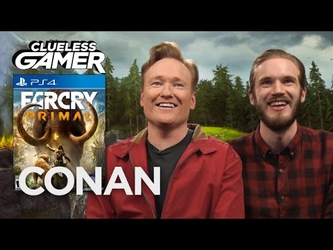 "Clueless Gamer: ""Far Cry Primal"" With PewDiePie  - CONAN on TBS"