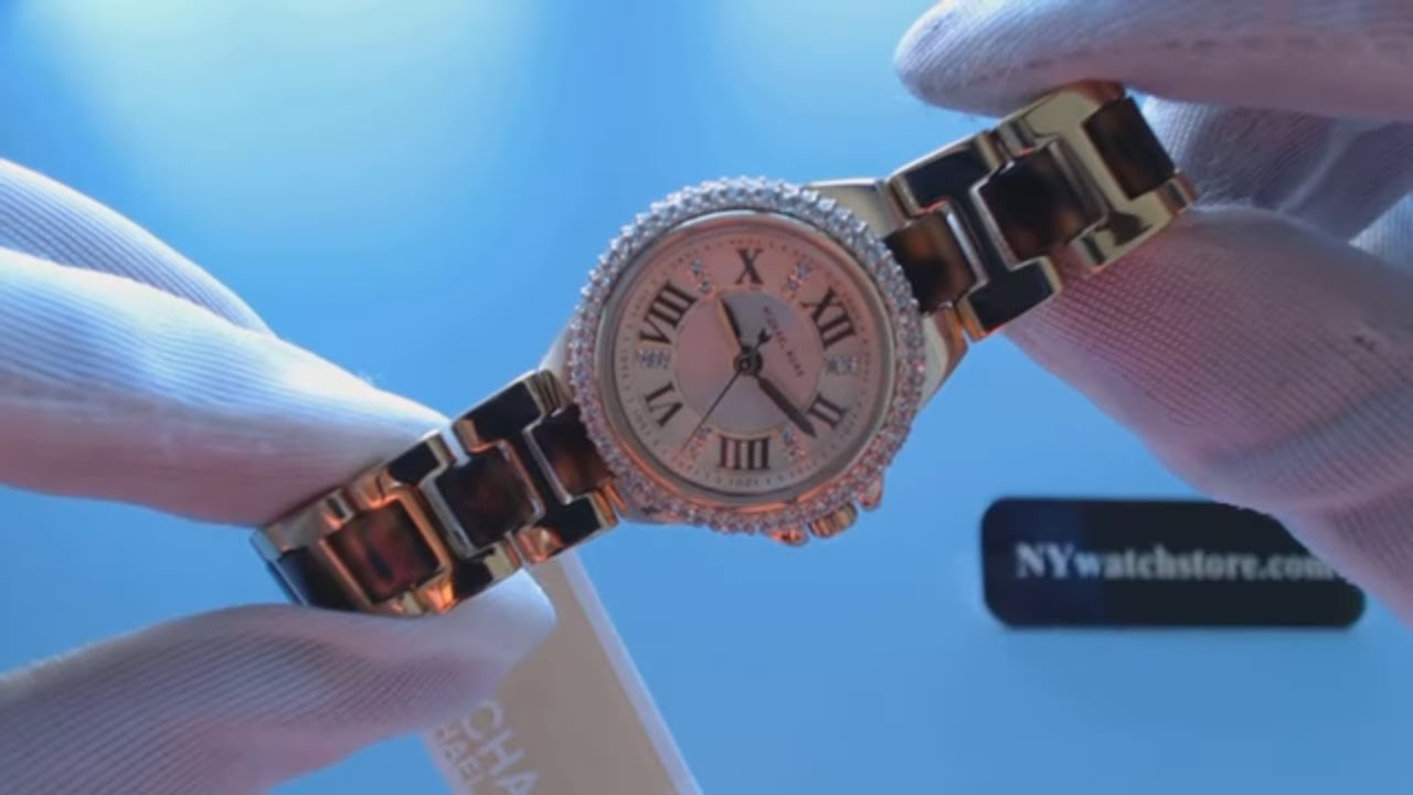 807f376eed29 Women s Two Tone Michael Kors Petite Camille Glitz Watch MK4291 ...