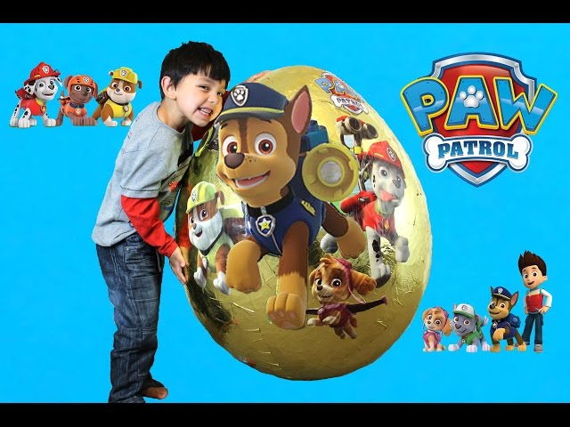 Paw Patrol Giant Egg Surprise Opening toys for Kids by Hitzh toys
