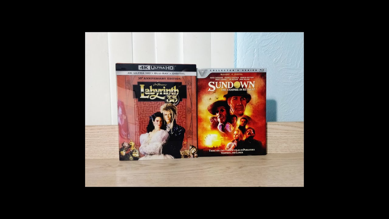 Download Sundown A Vampire in Retreat & Labyrinth 35th Anniversary Digibook 4K UHD Blu-Ray Unboxing