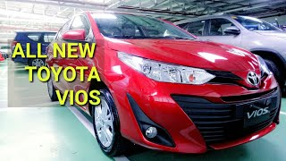 2019 ALL NEW TOYOTA VIOS E CVT| RED | WALK AROUND
