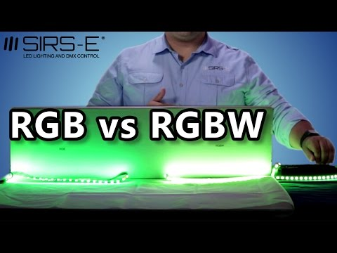 RGB vs RGBW LED Strips Differences by SIRS-E