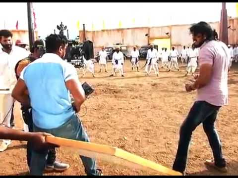 Bharjari kannada movie making    dhruva...