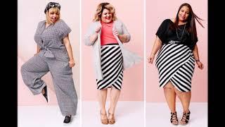 Женские модные костюмы для полных барышень