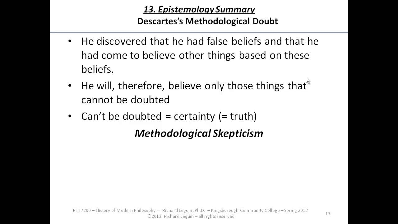 3 13 descartes methodological skepticism youtube