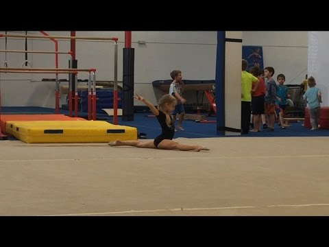 rhythmic gymnastics practice floor routine level 4