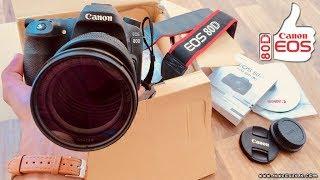 اشتريت كاميرا Canon 80D - المراجعة الكاملة وفتح الكرتون والمواصفات والسعر