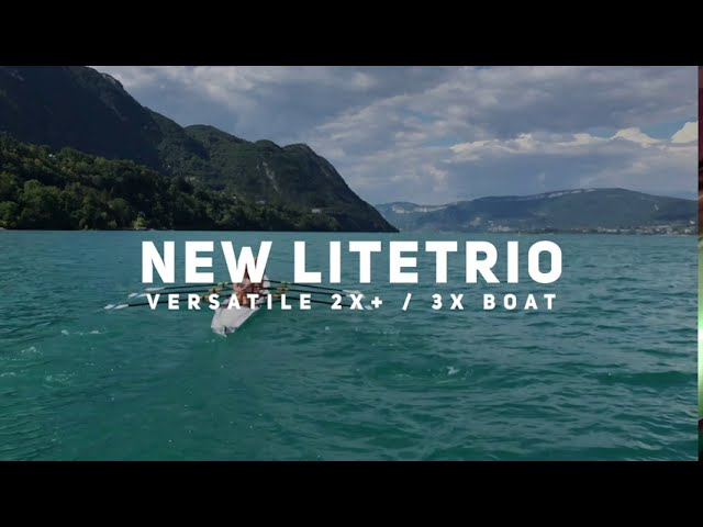 An innovative rowing boat : the LiteTrio by Liteboat, versatile 2X+ & 3X boat