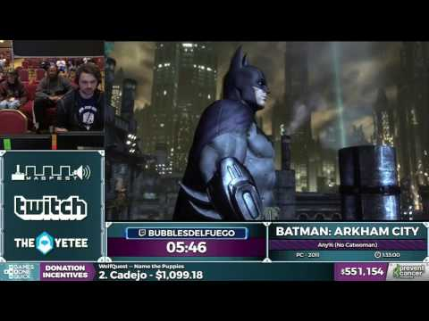 Batman: Arkham City by bubblesdelfuego in 1:32:54 - AGDQ 2017 - Part 98
