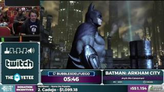 Batman Arkham City by bubblesdelfuego in 1 32 54 - Awesome Games Done Quick 2017 - Part 97