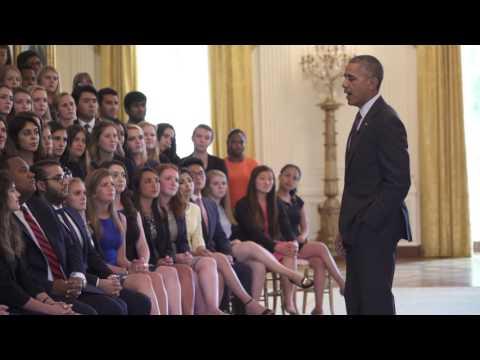 Obama Candid câu trả lời cho các câu hỏi thực tập