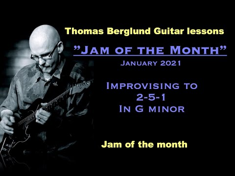 Jam of the month - Improvising to a 2-5-1 in G minor - Backing track in the video