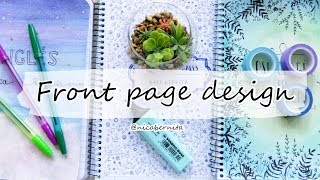 DIY NOTEBOOK DECORATION 💜 FRONT PAGE DESIGN FOR SCHOOL PROJECTS💛 PROJECT FILE DESIGN FRONT PAGE