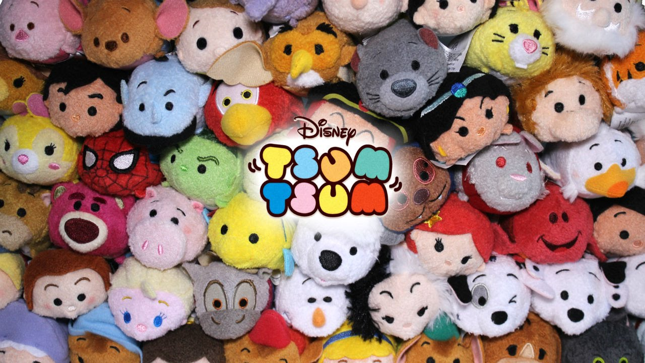 It is a graphic of Crafty Disney Tsum Tsum Pictures