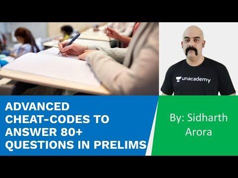 Advanced Cheat-Codes To Answer 80+ Questions In Prelims UPSC CSE | Sidharth Arora