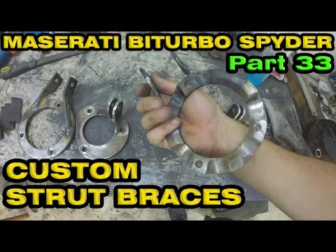 Custom Built Strut Bars / Braces - Maserati Spyder Part 33