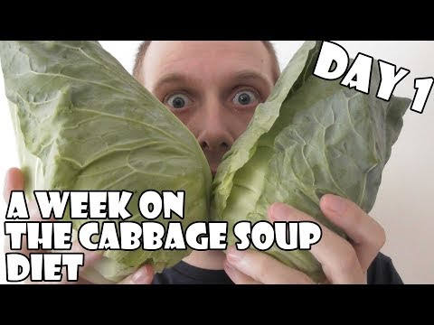 A Week On The Cabbage Soup Diet DAY 1