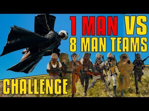 1 VS 8 Man Teams - Challenge | PUBG