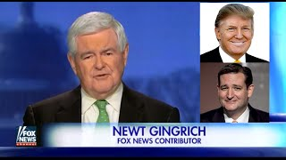 • Newt Gingrich: Donald Trump or Ted Cruz WILL Be The Nominee • 3/17/16 •