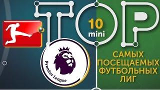 Мини ТОП 10 самых посещаемых футбольных лиг
