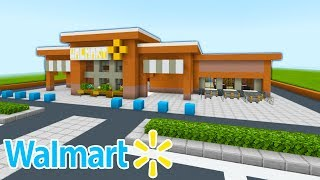 "Minecraft Tutorial: How To Make A Walmart ""2020 City Tutorial"" PART 1"
