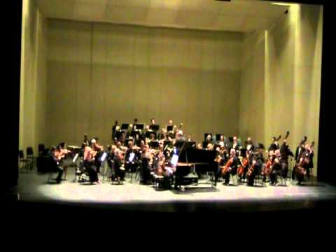 WCSO And Mary Au perform Brahms Piano Concerto 2 mvt 3