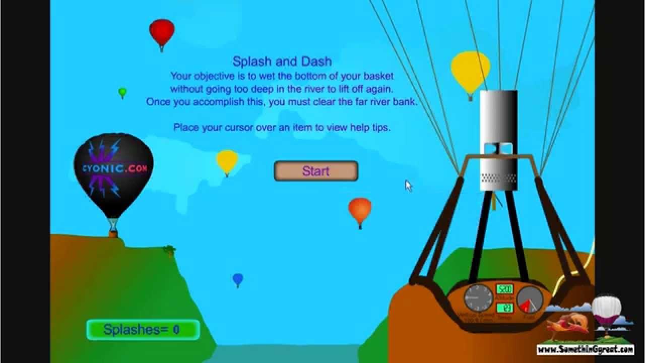 Hot air balloon games tutorial youtube for Air balloon games