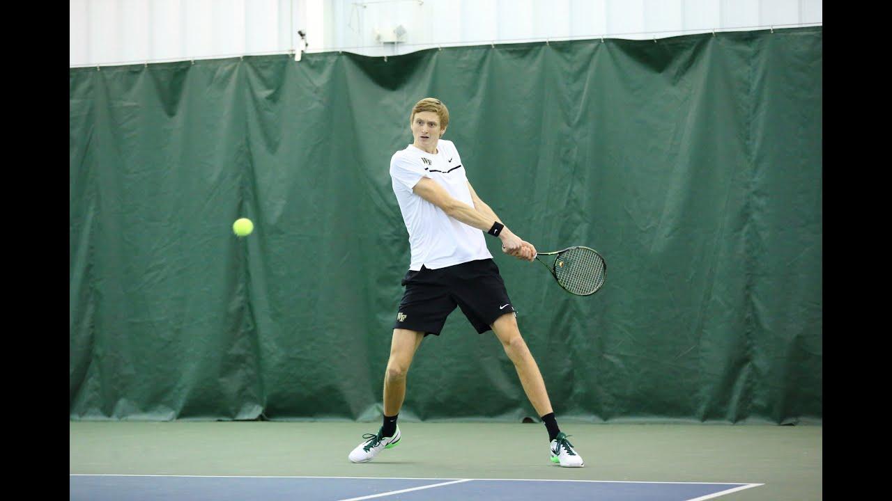Wake Forest Men's Tennis - Boston College Recap - YouTube