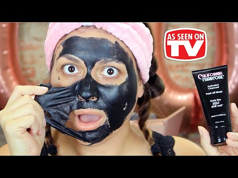 California Charcoal Peel Off Mask Review   Testing As Seen on Tv Products