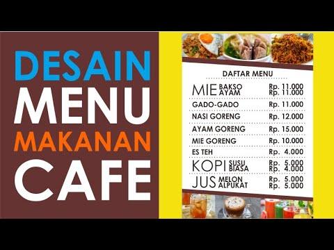 Cara Membuat Daftar Menu Cafe Sederhana Desain Coreldraw X7