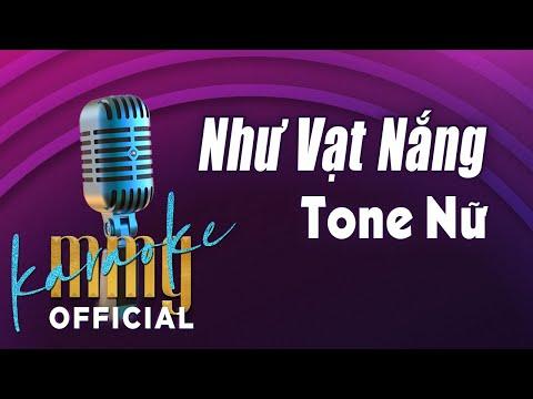 Như Vạt Nắng (Karaoke Tone Nữ) | Hát với MMG Band