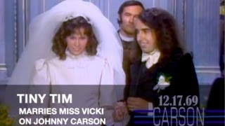 Tiny Tim's Wedding to Miss Vicki on Johnny Carson's Tonight Show