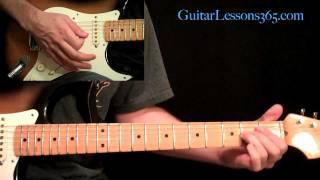 Michael Jackson - Beat It Guitar Lesson Pt.2 - Complete Solo