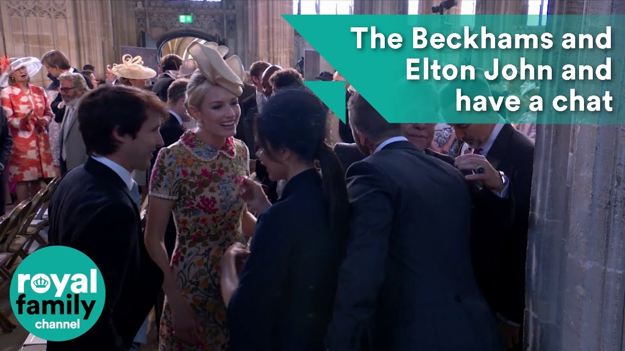 Victoria Beckham James Blunt Elton John And David Beckham Have A